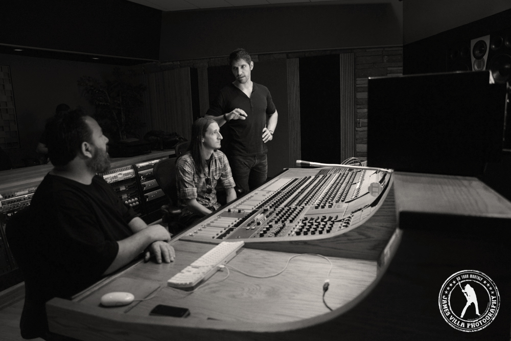Engineer Mark Wade with Bobby Tucker and Dustin Blocker | ©2013 James Villa Photography.