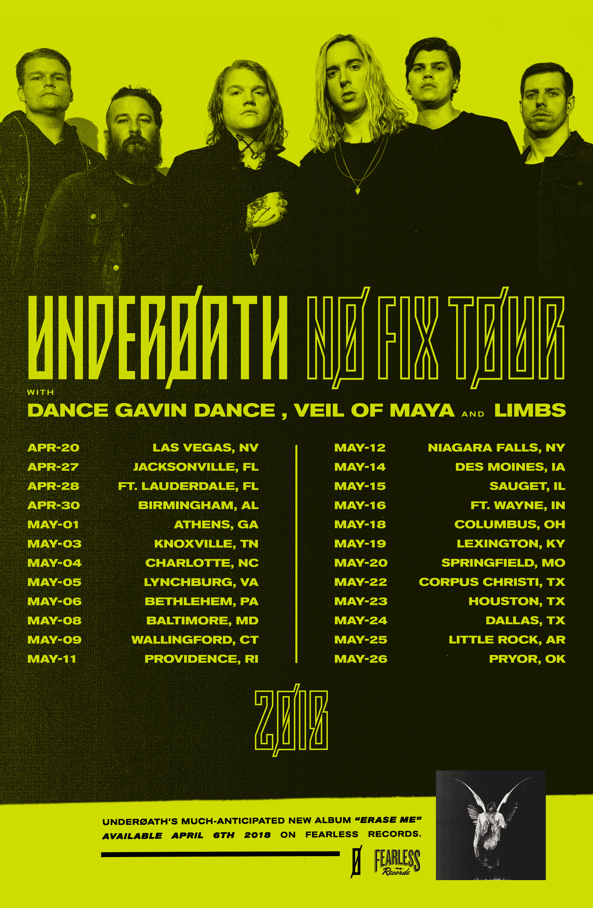 Underoath No Fix 2018